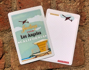 Greetings from Los Angeles set of 4 Note Cards