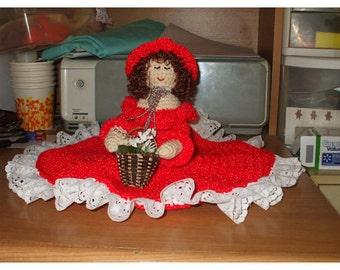 crocheted half doll