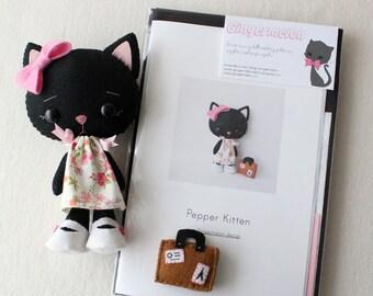 Pepper Kitten Pattern Kit