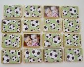 Child's Wooden Matching Game-Boy Soccer Toy- Personalized Wood Toy/Children's Birthday Gift by burlap and blue