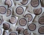 Best Friend Stickers or Envelope Seals  - 24 handpunched button stickers or seals or Custom Image Seals - 1.5 inch stickers or seals
