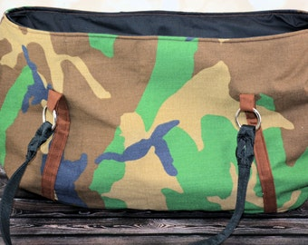 Camouflage Hobo Tote Bag/ Tote/ Computer Bag/Gift for her/ Gift for Mom/ Carry-All/ Birthday Gift/ Christmas Gift/ Book Bag