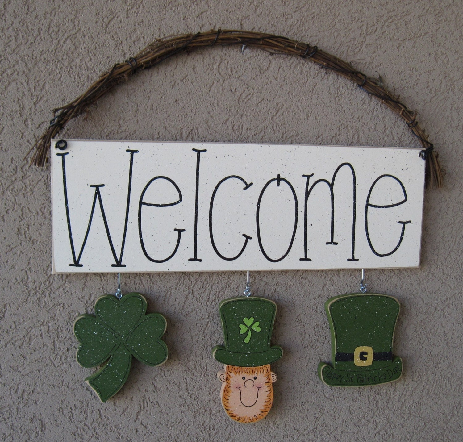 Monthly welcome sign march for wall and home decor for Welcome home decorations
