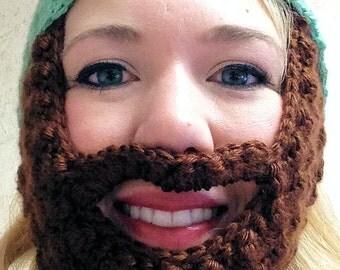 Beard Hat, Adult Beard Hat, Beard Beanie, Adult Beard Beanie, Hat with Beard, Bearded Hat, Cap with Beard, Crochet Beard Cap, Beard Hat