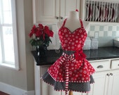 "Let It Snow~ ""Sadie Stye ~ Christmas and Holiday Apron  - Women's Apron ~ 4RetroSisters"
