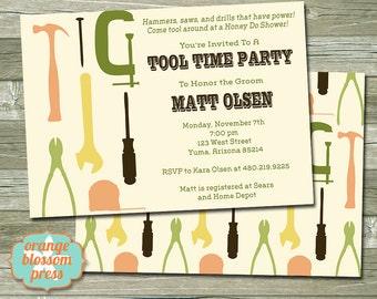 Groom's Tool Shower Invitation, Honey Do Shower, Tool Time Party, Groom's Shower