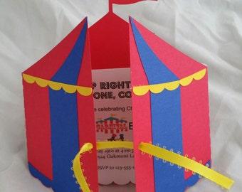 Circus/Carnival  Tent Invitation (10)