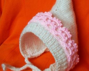 Knit Newborn Pixie Hat / Gnome Hat / Elf Hat/ Newborn  Hat Bonnet Made to order