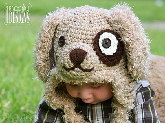 PATTERN Grommet Puppy Dog Hat Crochet Pattern in PDF