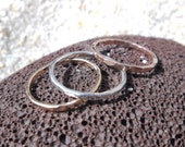 Stacking Ring Set, Set of Three, Mixed Metal Stack Rings, Gold-filled Stackable Rings, Silver Stacking Rings, Promise Rings, Bridesmaid