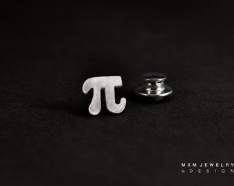 Sterling Silver Pi Lapel Pin