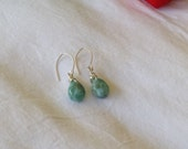 Simple and minimalist Larimar earrings Blue aquamarine jewelry gifts for her cyber Monday Etsy Aquamarine jewelry