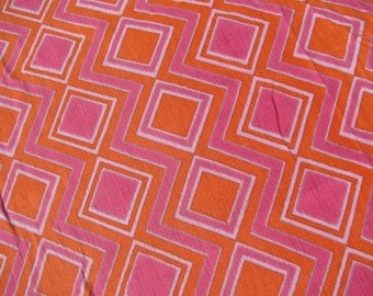 """Retro India Gauze Cloth  1960s Era  Bed Cover or Throw  60"""" by 94"""""""