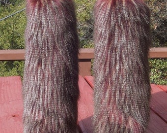 LegVogue Unique Faux Fur Leg Muffs