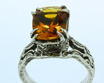 Kathula Silver Citrine ring