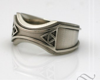 Mens Zelda Wedding Band -14k Gold