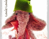 Annabelle - RESERVED-a fully jointed 17cm mohair elephant - Artist bear- Art doll- OOAK