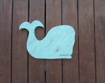 Reclaimed Wood Whale Decor. Whale Sign. Custom Whale. Nursery Whale Decor. Coastal decor. Whale Sign. Made To Order