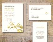 Wedding Invitations, Rustic Wedding, Love Bird Wedding Invitations, Birdcages, Lovebirds, Outdoor Weddings, Wedding Invites - Love Birds