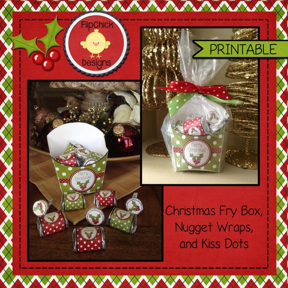 Christmas Fry Box And Candy Wraps 2