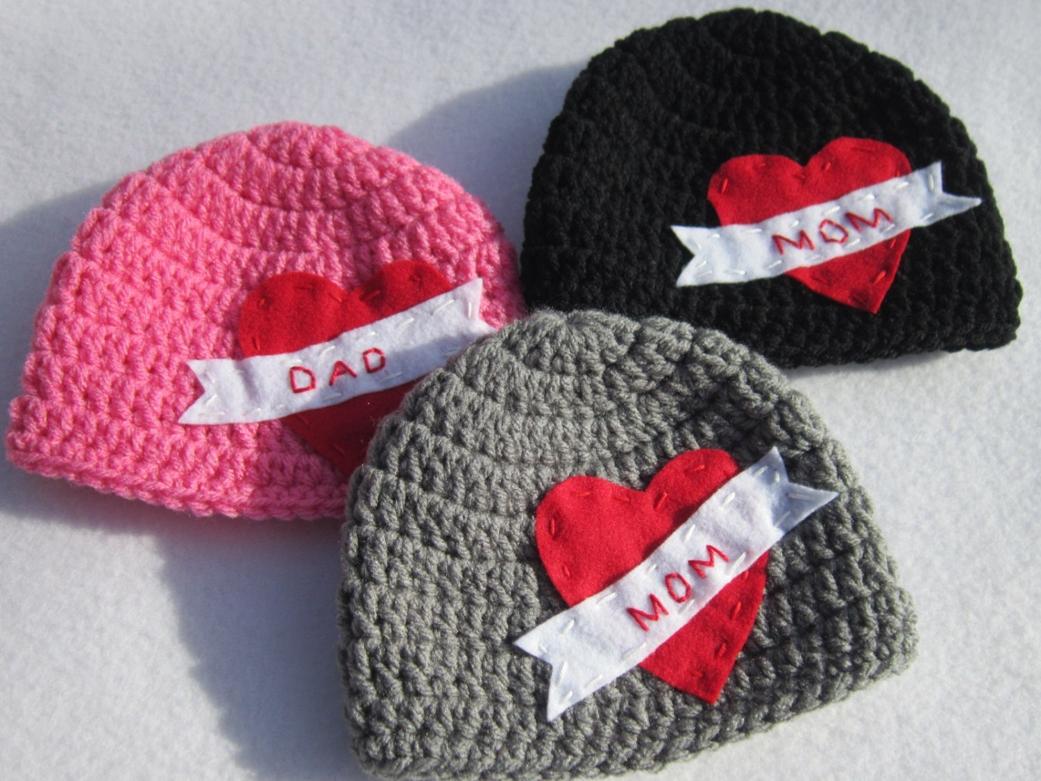 Valentines Day Baby Hat Crochet Mom Tattoo by crochetedbycharlene