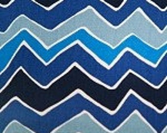 Seesaw Arctic Blue Natural Fabric by the Yard by Premier Prints