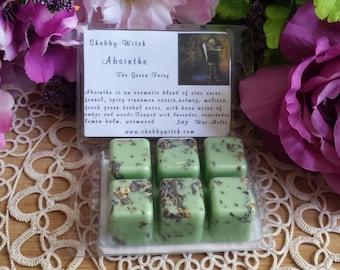 Absinthe Soy Tarts, The Green Fairy Soy Tarts, Soy Melts, Clam Shell Tarts