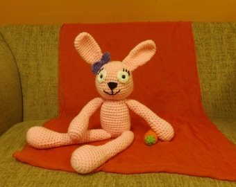 Large crochet Pink Bunny