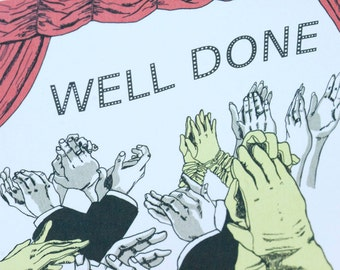 SALE - Well Done Congratulations greeting card - Applause 50% off