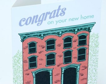 SALE - New Home Congratulations greeting card - Birdhouse - 50% off