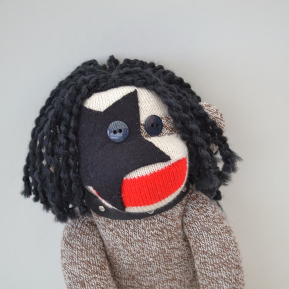 Sock Monkey Doll, Paul Stanley, KISS  Inspired