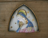 vintage ceramic mary plaque by sanmyro