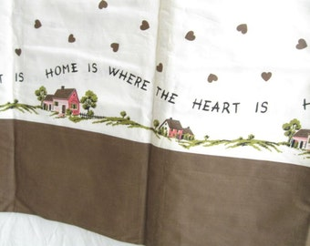 Home is Where The Heart Is Border Print Cotton Fabric Yardage