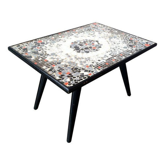 Mid Century Tile Mosaic Coffee / Cocktail Table 50's By