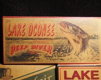 lake house decor Lake Sinclair Oconee Lanier Georgia fishing lure boxes cabin decor