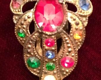 Antique vintage dress clip or shoe clip.