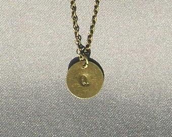 Antique Bronze Initial Q Necklace