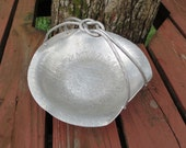 World Hand Forged Vintage Aluminum Large Bowl with Knotted Handle