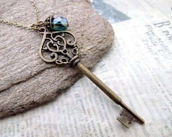 Victorian Style Key Necklace