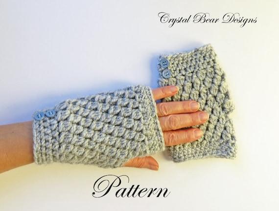 Crochet Fingerless Gloves PATTERN / Texting Gloves / Gauntlets