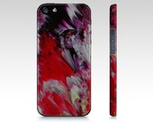 Red and Purple Floral Abstract Art Phone Case iPhone and Samsung
