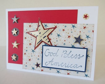 God Bless America Fourth Of July Christian Card