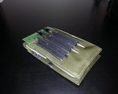 Tactical Investigator I, Field Notebook Cover (in OD Green Ballistic Nylon) with Black Elastic Pen Holder