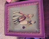 Vintage Turner print , watercolor print , 1940-50's, with glass and frame