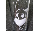 Pokemon Eevee etched pint beer glass tumbler