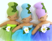 Flower Pixie Cloth Rag Doll - MADE TO ORDER