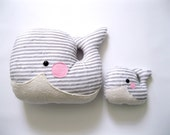 Baby and Mama Plush Whale Cushion Combo - Free Shipping