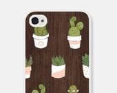 Wood iPhone 6 Case - Succulent iPhone 5 Case - Wood iPhone 5s Case - Pink Cactus iPhone 5 Case - Geometric Samsung Galaxy S6 Case - Cco