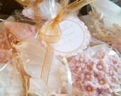 40 Butterfly, Heart and Flower Soap Favors - Bridal Shower Favor, Wedding Favor, Baby Shower Favor - Vegan Heart Soaps