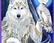 Angel Winged Wolf Print